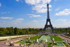 Trocadero的视图在埃佛尔铁塔附近的 免版税库存照片