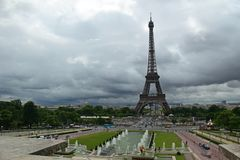 Trocadero στο Παρίσι Στοκ εικόνες με δικαίωμα ελεύθερης χρήσης