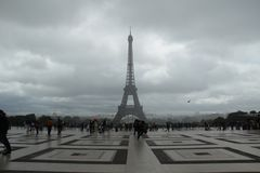 Trocadero στο Παρίσι Στοκ εικόνα με δικαίωμα ελεύθερης χρήσης