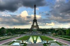 trocadero Эйфелевы башни Стоковое Изображение