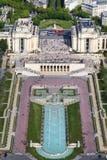 Trocadero ed il Palais de Chaillot Parigi, Francia Immagine Stock