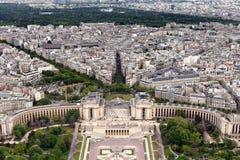 Trocadero fa il giardinaggio Parigi Fotografia Stock Libera da Diritti