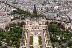 Trocadero fa il giardinaggio Parigi Immagini Stock Libere da Diritti