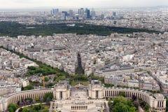 Trocadero fa il giardinaggio Parigi Immagini Stock