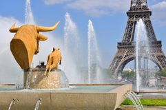 Trocadero Fountain (Paris) Royalty Free Stock Image