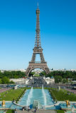 Trocadero Fountains, Eiffel Tower and Champ de Mars II Royalty Free Stock Photography
