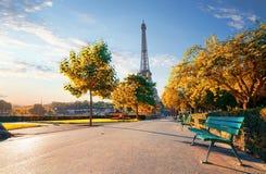 Trocadero Garden in autumn Royalty Free Stock Photos