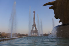 Trocadero gardens and Eiffel tower, Paris Stock Photography