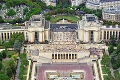 Trocadero gardens and the Palais de Chaillot Stock Photos
