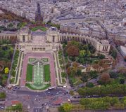 Trocadero gardens in Paris, France. Stock Photo