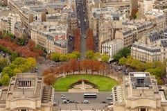 Trocadero gardens in Paris, France. Stock Photography