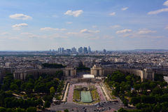 Trocadero Gardens in summer, Paris,  France Royalty Free Stock Images