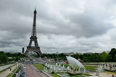 Trocadero i Paris Royaltyfria Bilder