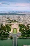 Trocadero och panorama av Paris Royaltyfri Fotografi