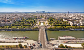 The Trocadero palace and the river Seine, Paris Royalty Free Stock Photo