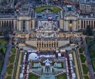 巴黎- Trocadero, Palais de Chaillot 免版税图库摄影