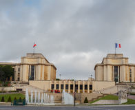 Trocadero and the Palais de Chaillot. Paris, France. Stock Images