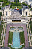 Trocadero and the Palais de Chaillot. Paris, France. Stock Image