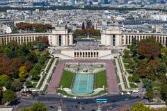 Trocadero in Parijs, Frankrijk Stock Fotografie