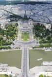 Trocadero - Paris, Frankrike Arkivfoton