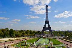 Trocadero, Paris, near the Eiffel Tower Royalty Free Stock Photography