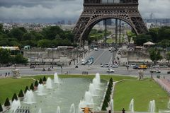 Trocadero in Paris. Stock Photos