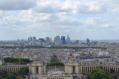 Trocadero Paris som tas från, turnerar eiffel Arkivbilder