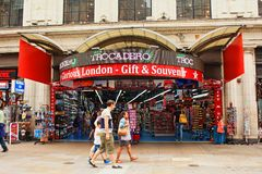 Trocadero shopping center London United Kingdom. Trocadero shopping center at Coventry Street.The London Trocadero was an entertainment complex on Coventry Stock Photos