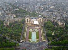 Trocadero uppifrån av Eiffeltorn Arkivfoto