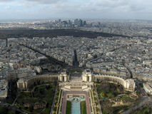 Trocadero viewed from the Eiffel Tower, Paris, France.  Stock Images