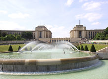 Trocadero and Water Fountains Royalty Free Stock Photography