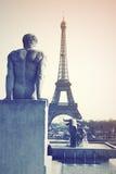 Trocadero y torre Eiffel fotografía de archivo