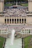 Trocaderomonument van de Toren van Eiffel in Parijs stock afbeeldingen