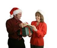 Trocando presentes Fotografia de Stock