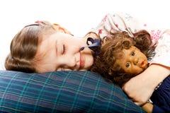trochę łóżkowa dziewczyna zdjęcie royalty free