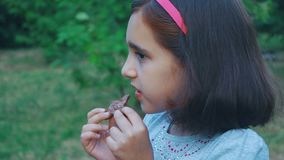 trochę łasowanie czekoladowa dziewczyna zdjęcie wideo