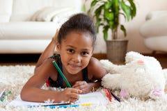 trochę afrykańska azjatykcia rysunkowa dziewczyna Zdjęcie Stock