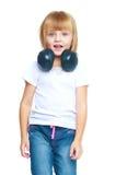 trochę dziewczyna błękitny cajgi Obraz Stock