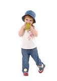 trochę dziewczyny jabłczana zieleń Zdjęcia Stock