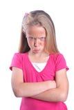 trochę gniewna dziewczyna obrazy royalty free