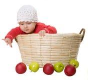 trochę jabłczana dziewczyna Fotografia Stock
