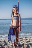 trochę plażowa śliczna dziewczyna obrazy stock