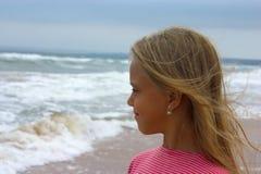 trochę plażowa dziewczyna Fotografia Stock