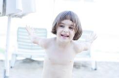 trochę plażowa dziewczyna Fotografia Royalty Free
