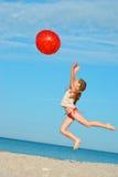 trochę plażowa dziewczyna Zdjęcie Royalty Free