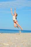 trochę plażowa dziewczyna Obrazy Royalty Free