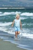 trochę plażowa dziewczyna Zdjęcie Stock