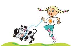 trochę psia dziewczyna ilustracji