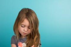 trochę smutna dziewczyna zdjęcia royalty free