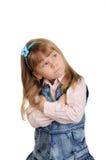 trochę gniewna dziewczyna Zdjęcia Royalty Free